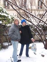 Acordar na manhã em que íamos à Disney e ver tudo coberto de neve não nos desencorajou!