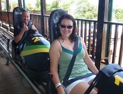 Prestes a descer a montanha num bobsled Jamaicano!