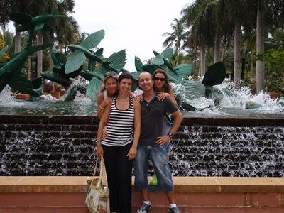 A família em Atlantis, na Paradise Island, Bahamas