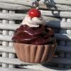 Chocolate Cupcake Pendant