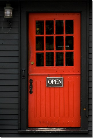 door red with black