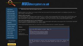 MD5Decrypter