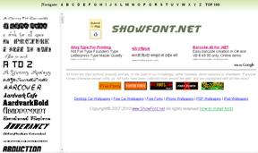 ShowFont