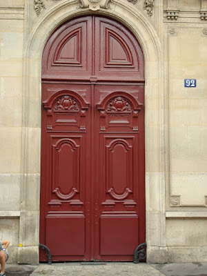 Red Paris Door
