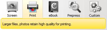 انتخاب کیفیت فایل خروجی