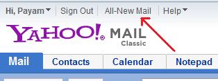 بر روی لینک All-New Mail کلیک کنید