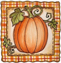 Autumn Days Painted - CNR Pumpkin 01