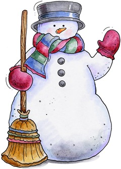 Winter Waving Snowman