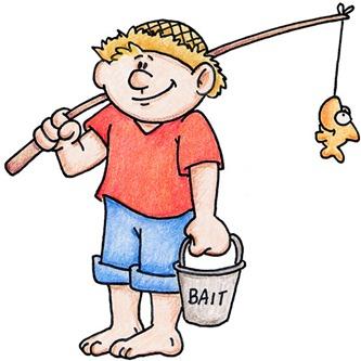 clipart imagens decoupage Going Fishing