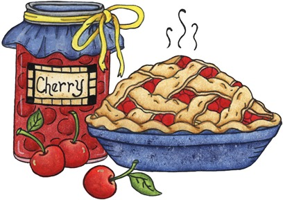 imagens decoupage clipart Cherry Pie