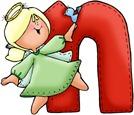 Angel Letter N