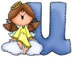 Angel Letter U