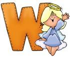 Angel Letter W