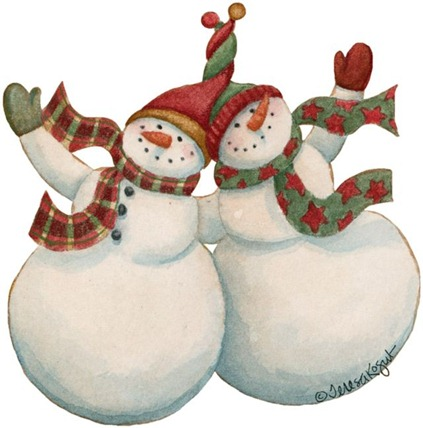 Christmas Snowman - Painted - _-766507