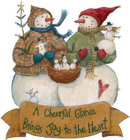 Christmas Snowman - Painted - _-707884