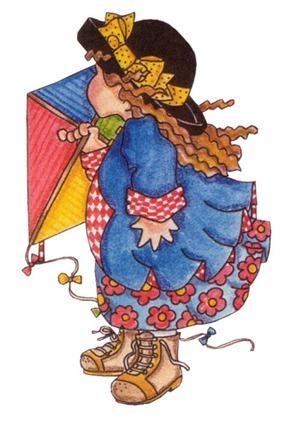 Menina de chapeu com pipa-715968