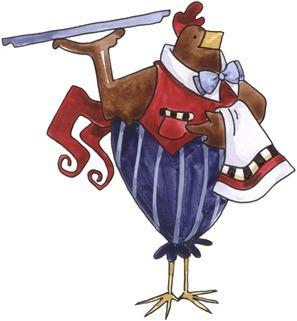 imagem decoupage clipart Rooster Serving-719983