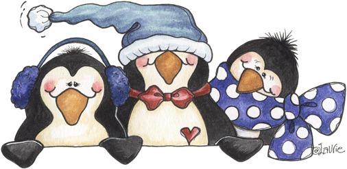 Three Penguin Topper