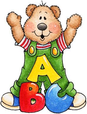 clipart decpoupage ABC Teddy Bear