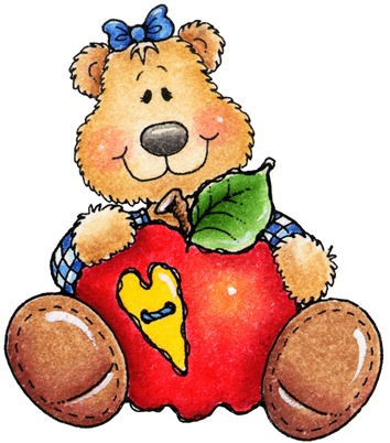 clipart decpoupage Teddy Bear Apple01
