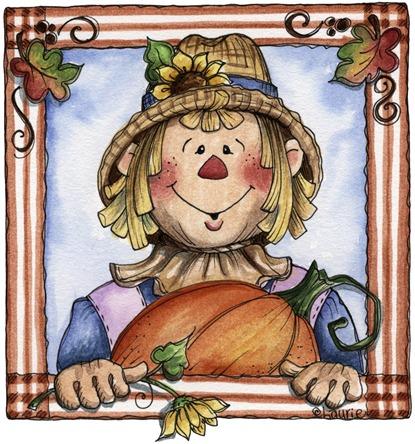 imagem de coupage clipart espantalho Autumn Scarecrow02