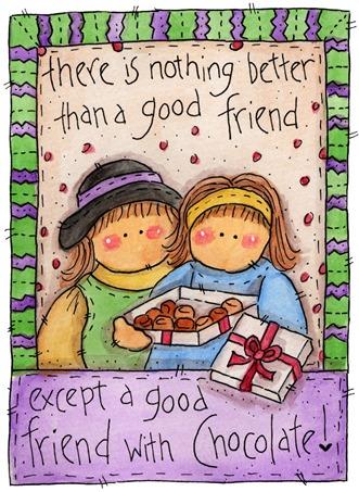 clipart imagem decoupage  Good Friends