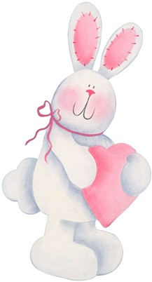 imagens decoupage clipart figura decoupage  Bunny with Heart02