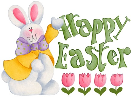 imagens decoupage clipart figura decoupage  Happy Easter Bunny