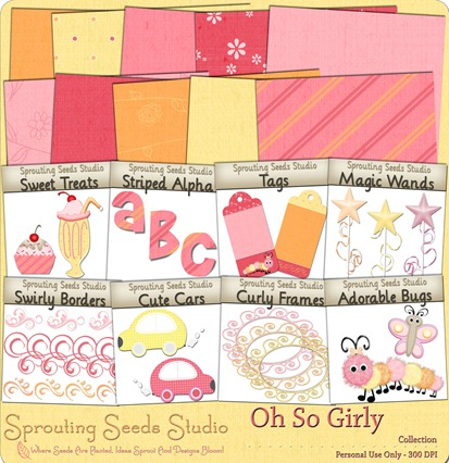 Sprouting Seeds Studio - Oh So Girly Preview