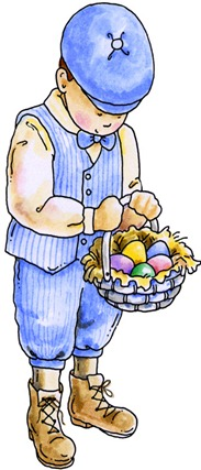 clipart imagem decoupage Easter Boy