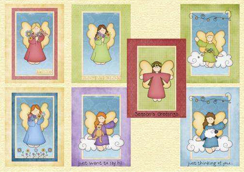 cartoes de anjos