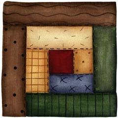 imagem decoupage clipart  Block Log Cabin