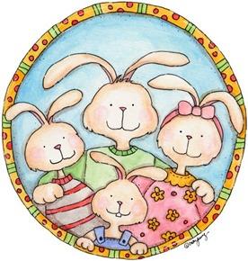 imagem decoupage clipart coelho Day Dream (5)