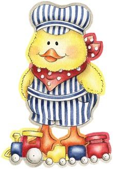 clipart imagem de coupage figura decoupage coleçao pato (9)