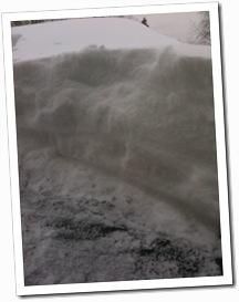 Snö på bilen