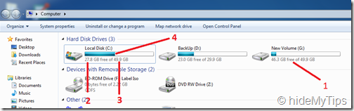 3_Checking Hard Drive Free Space in Windows 7