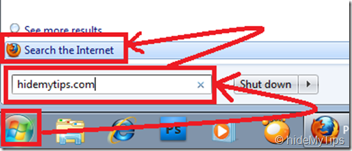 Searching the Internet from the Start Menu in Windows 7_3