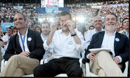 Camps, Rajoy y Oreja