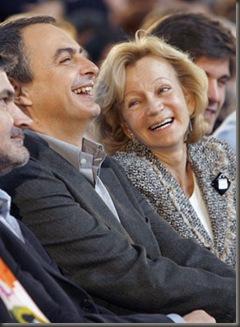 Zapatero y Elena Salgado