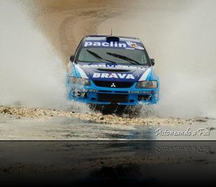 José Cantón (Mitsubishi TRT) ganador del Rally de Mina Clavero / pistoneandoafull.blogspot.com
