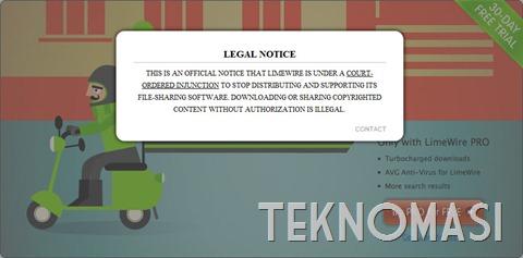 Mahkamah arah Limewire tutup operasi