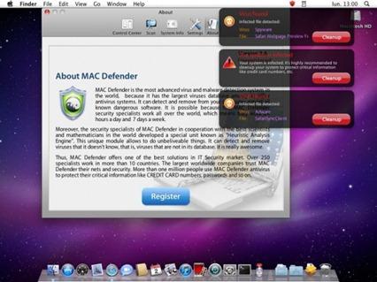 MAC Defender: antivirus palsu dan berniat jahat