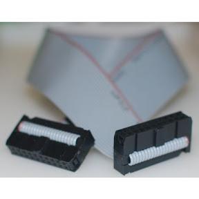 2x10 Idc Connector Flat Ribbon Cable 30cm Ebay