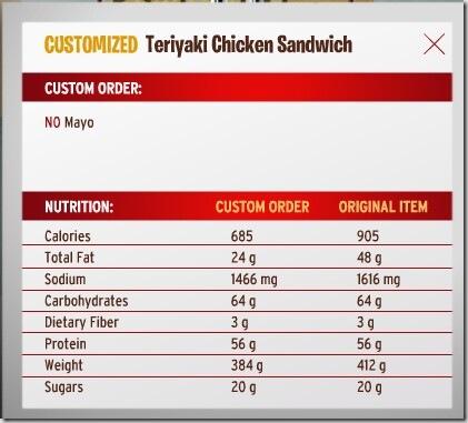 Teriyaki chicken -Mayo