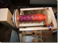 spinning and aunt del's quilt 019