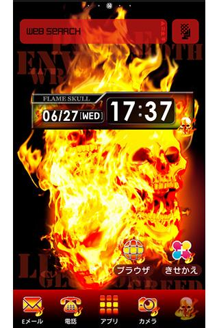 Flame Skull for[+]HOMEきせかえテーマ
