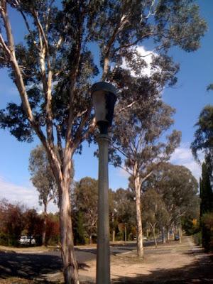 Streetlight and gaffer tape