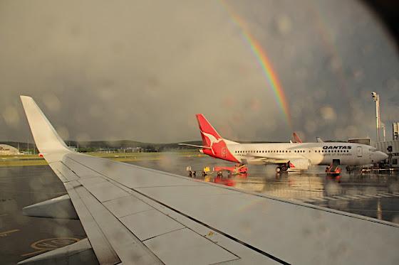 rainbows and qantas