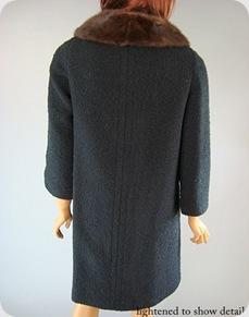 Vintage black coat 60s 8