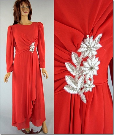 Emma Domb Red dress 60s Vintage